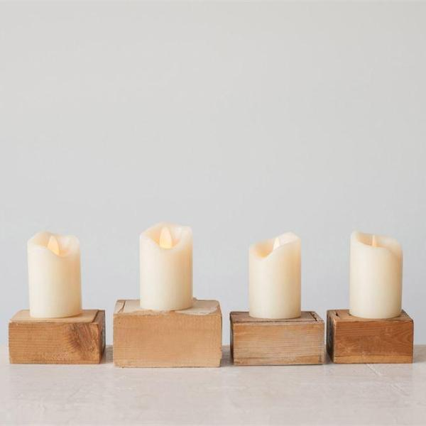 "Flameless LED Wax Pillar Candle 3""H-Decor-Creative-A Cottage in the City"