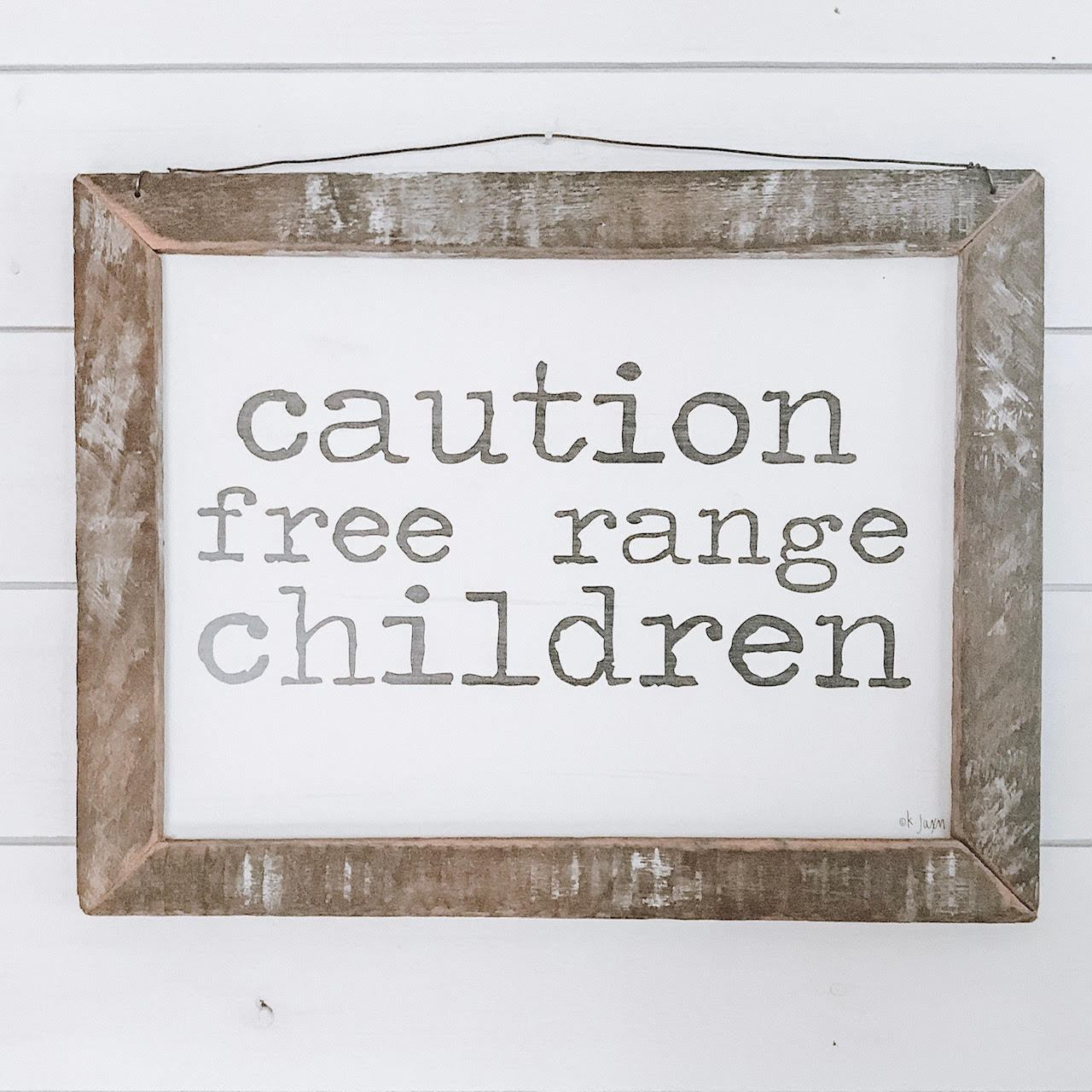 Free Range Children Rustic Framed Print-Decor-A Cottage in the City