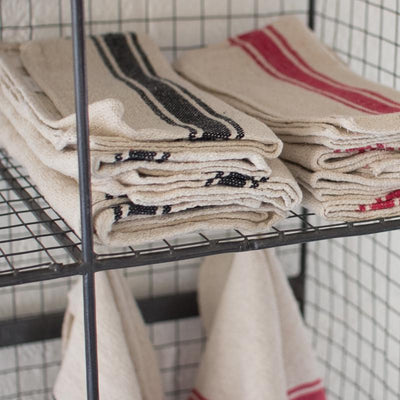 French Inspired Cotton Stripe Dishtowel