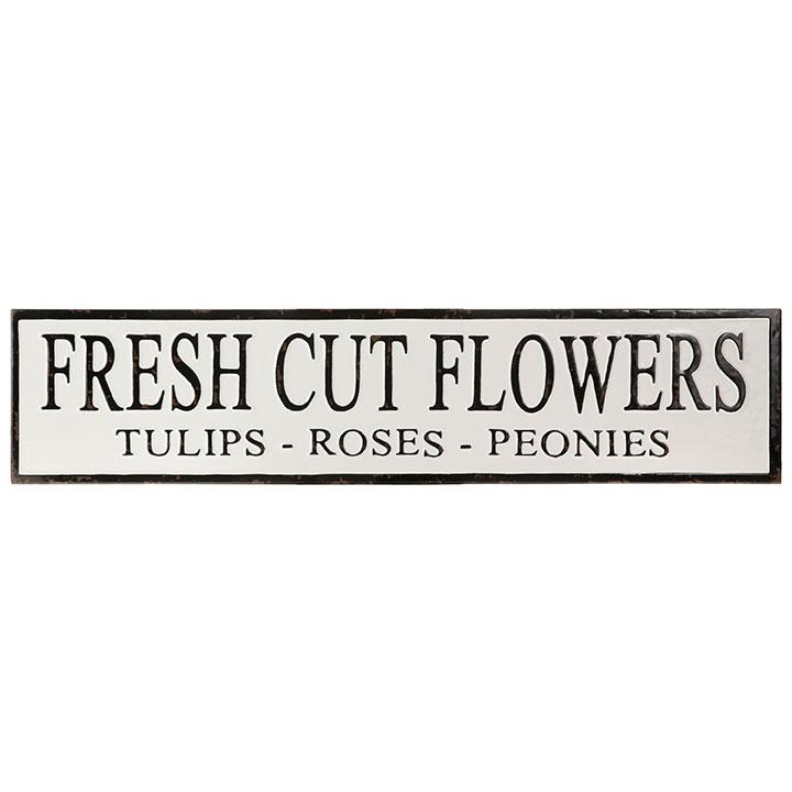 Fresh Cut Flowers Metal Sign-Decor-A Cottage in the City