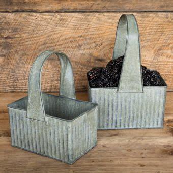 Galvanized Berry Basket