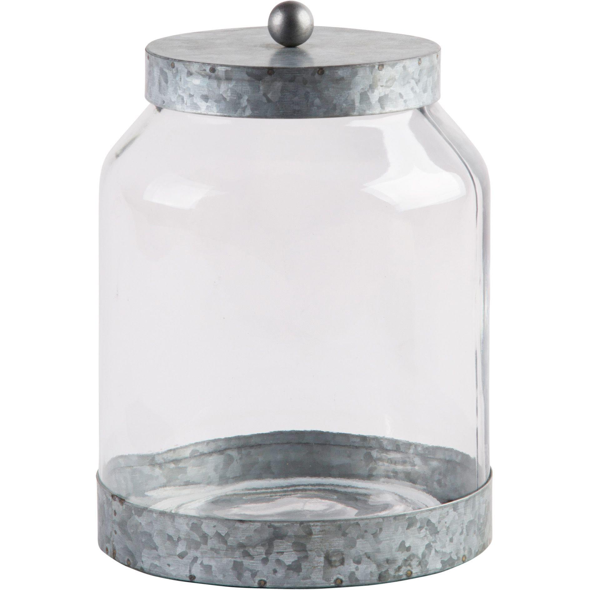 Galvanized Glass Canisters-Tabletop-Large-A Cottage in the City