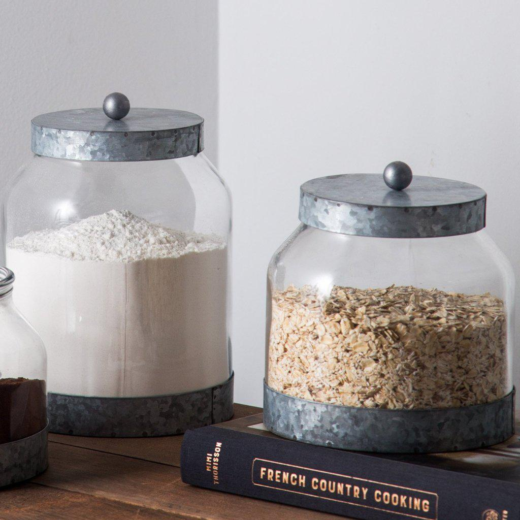 Galvanized Glass Canisters-Tabletop-A Cottage in the City