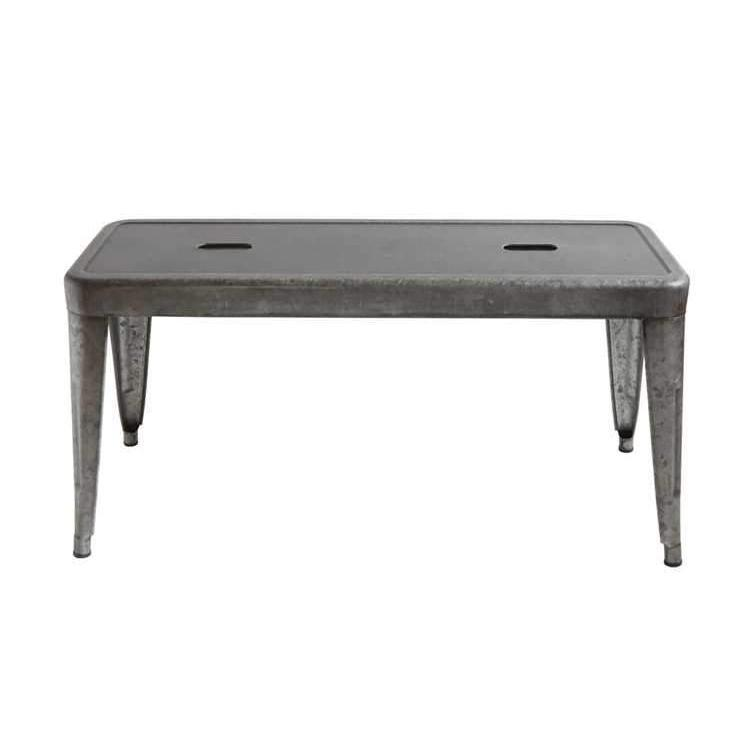 Galvanized Metal Bench-Furniture-A Cottage in the City