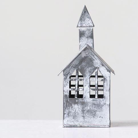 Galvanized Metal Church-Decor-A Cottage in the City