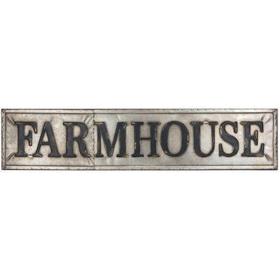 Galvanized Metal Farmhouse Sign