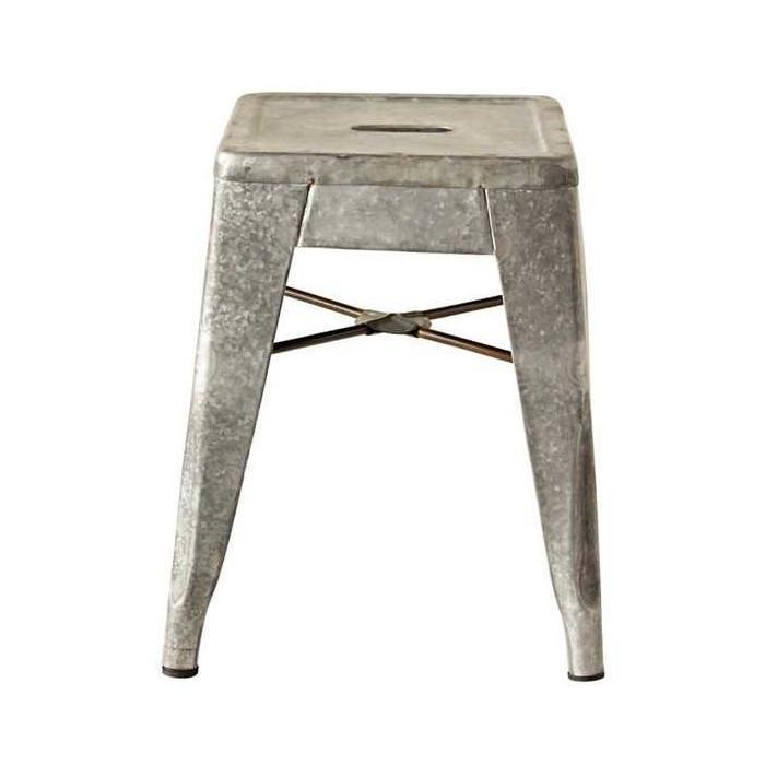 Galvanized Metal Stool-Decor-A Cottage in the City