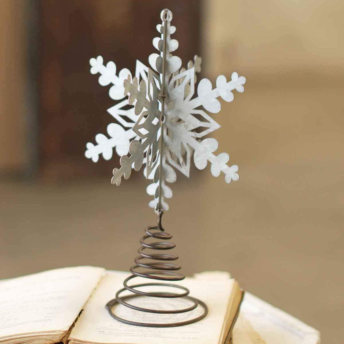Galvanized Snowflake Tree Topper