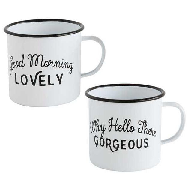 Good Morning Enamel Mug