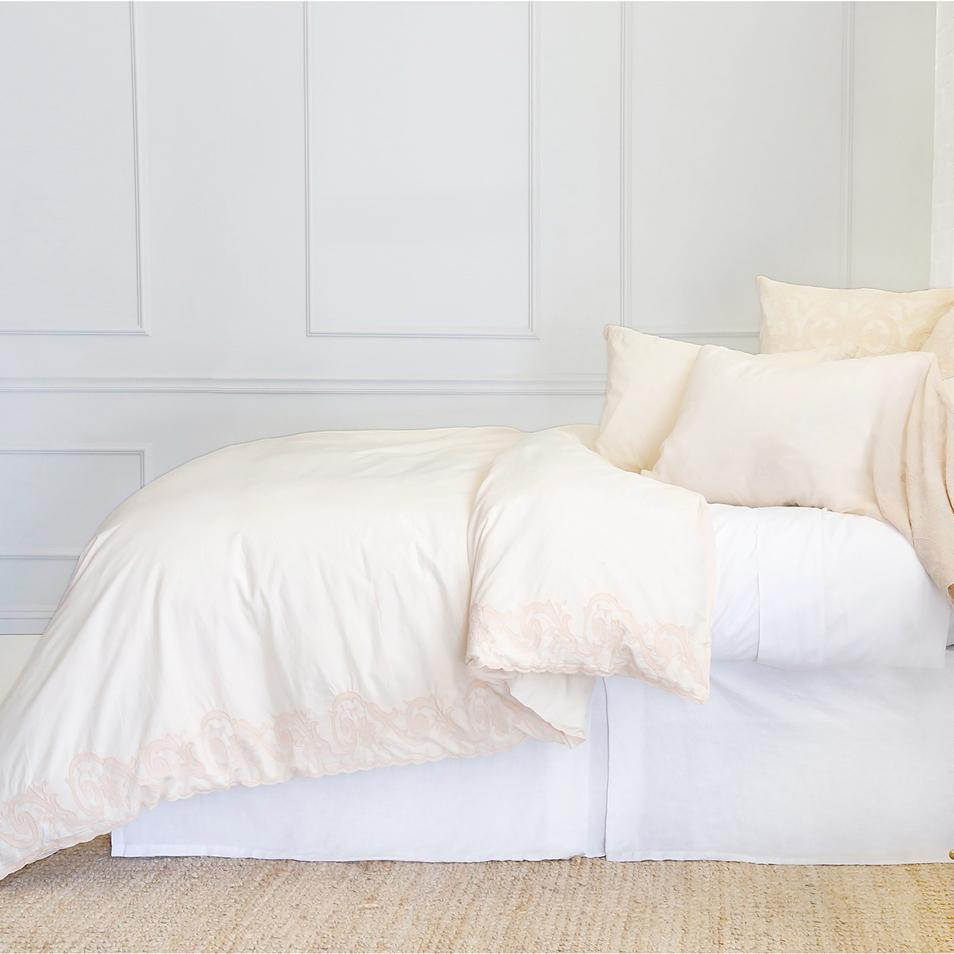 Grace Euro Sham by Pom Pom at Home-Bed & Bath-Pink Champagne-A Cottage in the City
