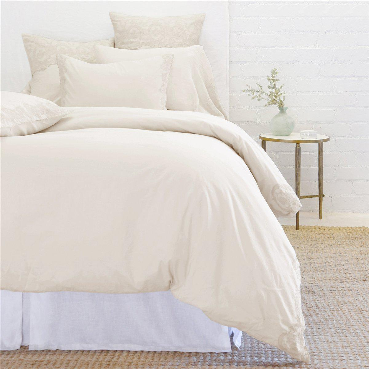 Grace Euro Sham by Pom Pom at Home-Bed & Bath-Taupe-A Cottage in the City