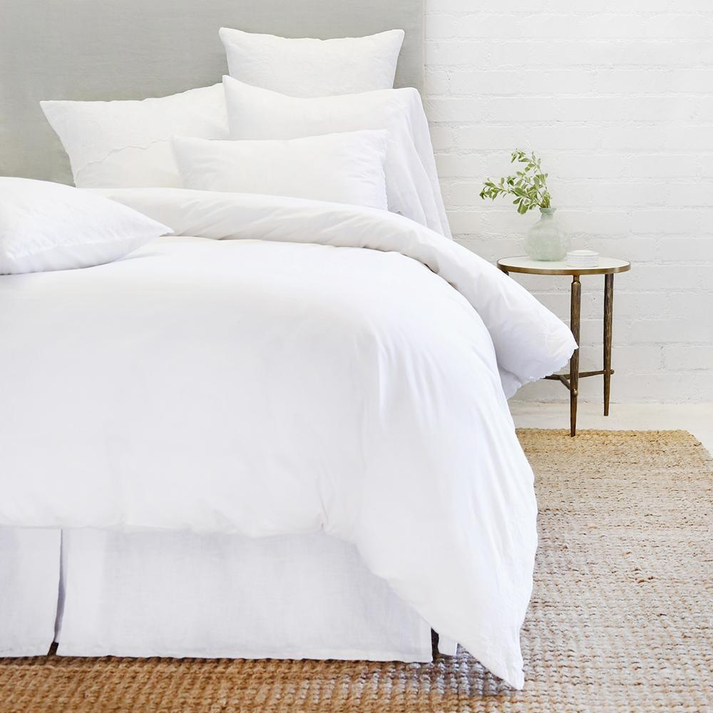 Grace Euro Sham by Pom Pom at Home-Bed & Bath-White-A Cottage in the City