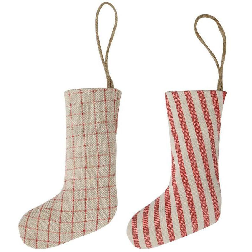 Grain Sack Style Stocking Ornament