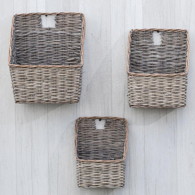 Grey Washed Willow Wall Basket-Seasonal-A Cottage in the City