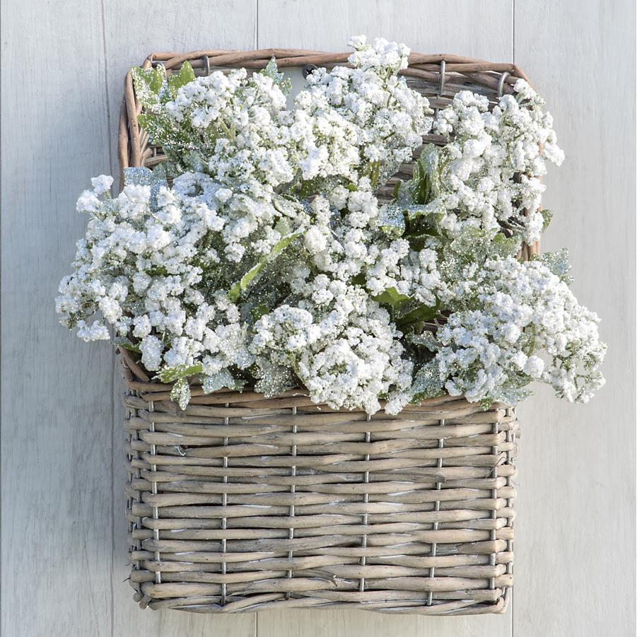 Grey Washed Willow Wall Basket-Seasonal-Small-A Cottage in the City