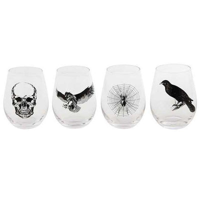Halloween Stemless Wine Glass
