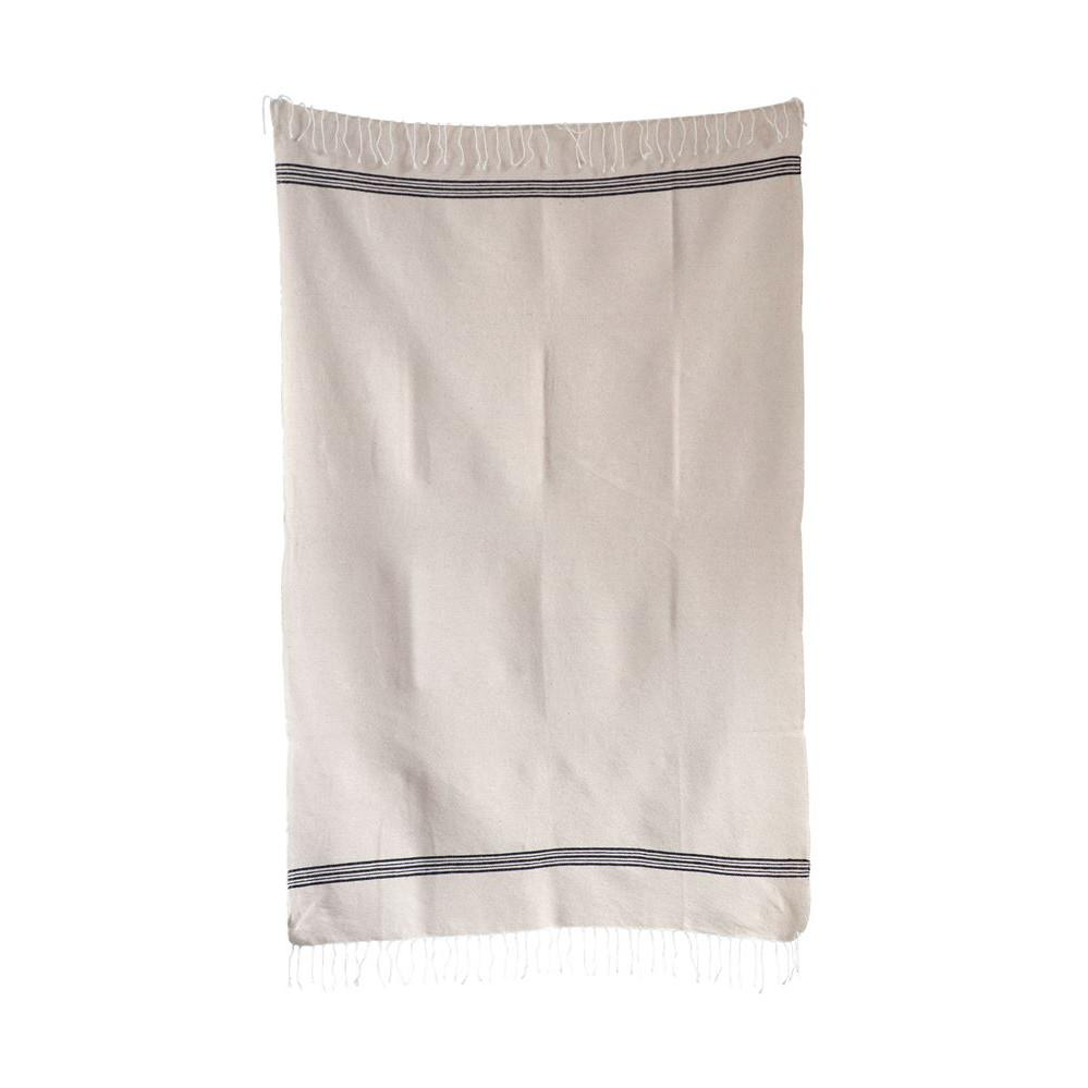 Hand Loomed Farmhouse Cotton Bath Hand Towel With Fringe-Bed & Bath-Creative-Hand-A Cottage in the City