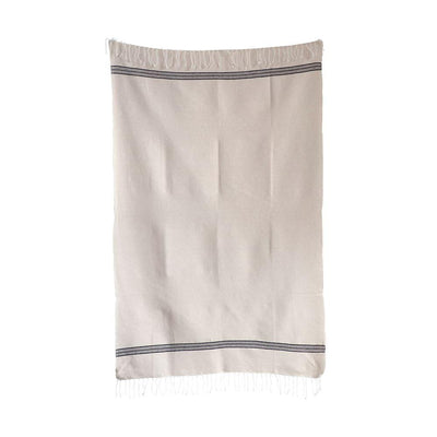 Hand Loomed Farmhouse Cotton Bath Hand Towel With Fringe-Bed & Bath-A Cottage in the City