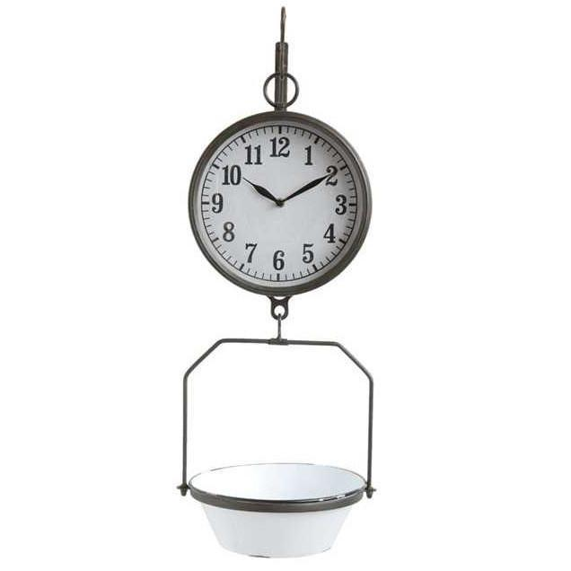 Hanging Enamel Scale Clock-Decor-A Cottage in the City