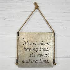 Having Time Cut Out Metal Sign