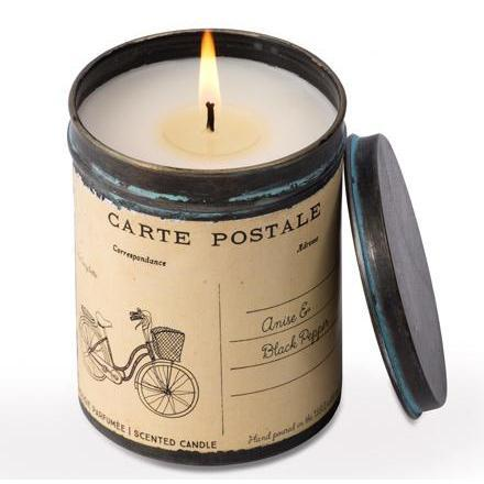 Himalayan Postcard Tin Bicycle Candle-Decor-A Cottage in the City