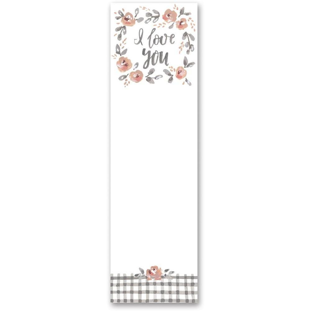 I Love You Floral Notepad-Gifts-A Cottage in the City