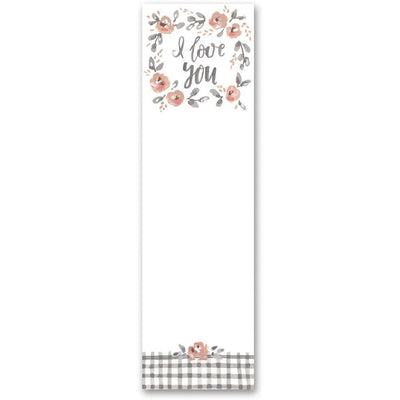 I Love You Floral Notepad