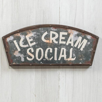 Ice Cream Social Metal Sign