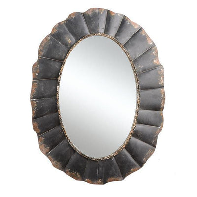 Industrial Chic Oval Mirror