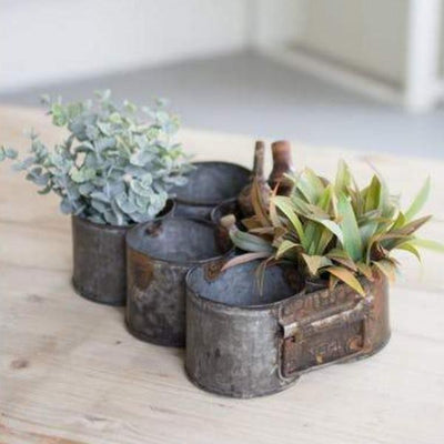 Industrial Galvanized Pots With Handles