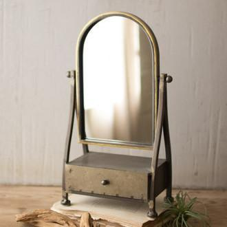 Industrial Metal Jewelry Mirror
