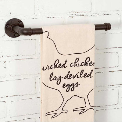 Industrial Wall Mount Towel Holder Set of 2