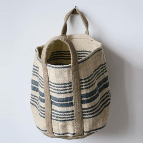 Jute Striped Sandy Bag-Storage-A Cottage in the City