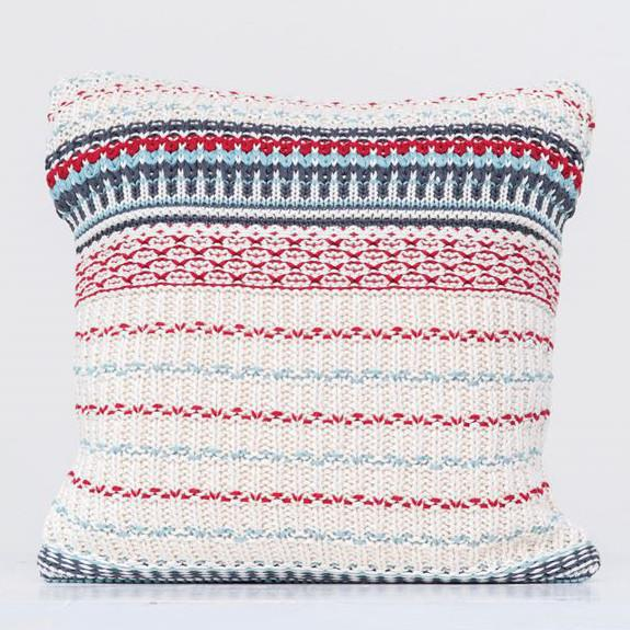 Knit Striped Pillow-Seasonal-A Cottage in the City