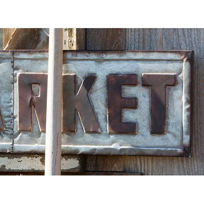 Large Embossed Farmers Market Sign