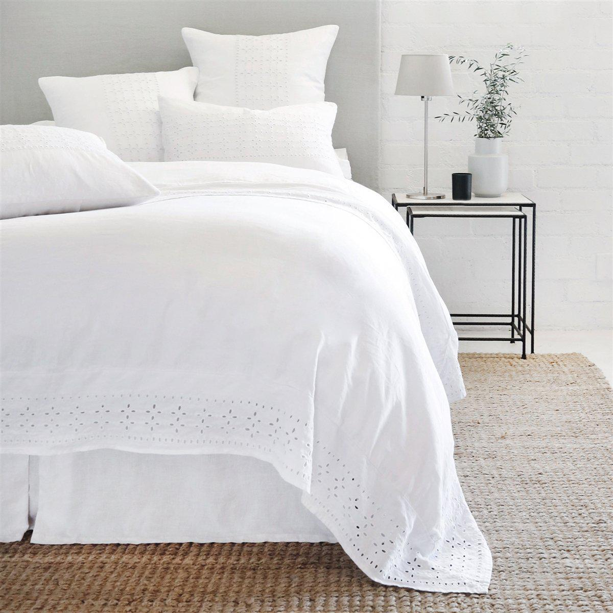Layla Sham by Pom Pom at Home-Bed & Bath-Standard-White-A Cottage in the City