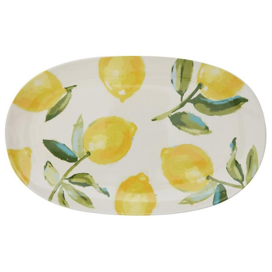 Lemons Stoneware Platter-Tabletop-A Cottage in the City