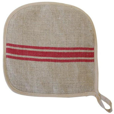 Linen Red Stripe Potholder