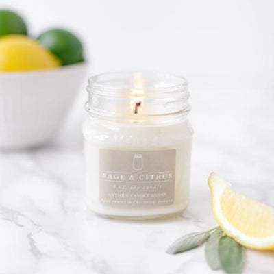 Mason Jar Sage & Citrus Candle 8oz