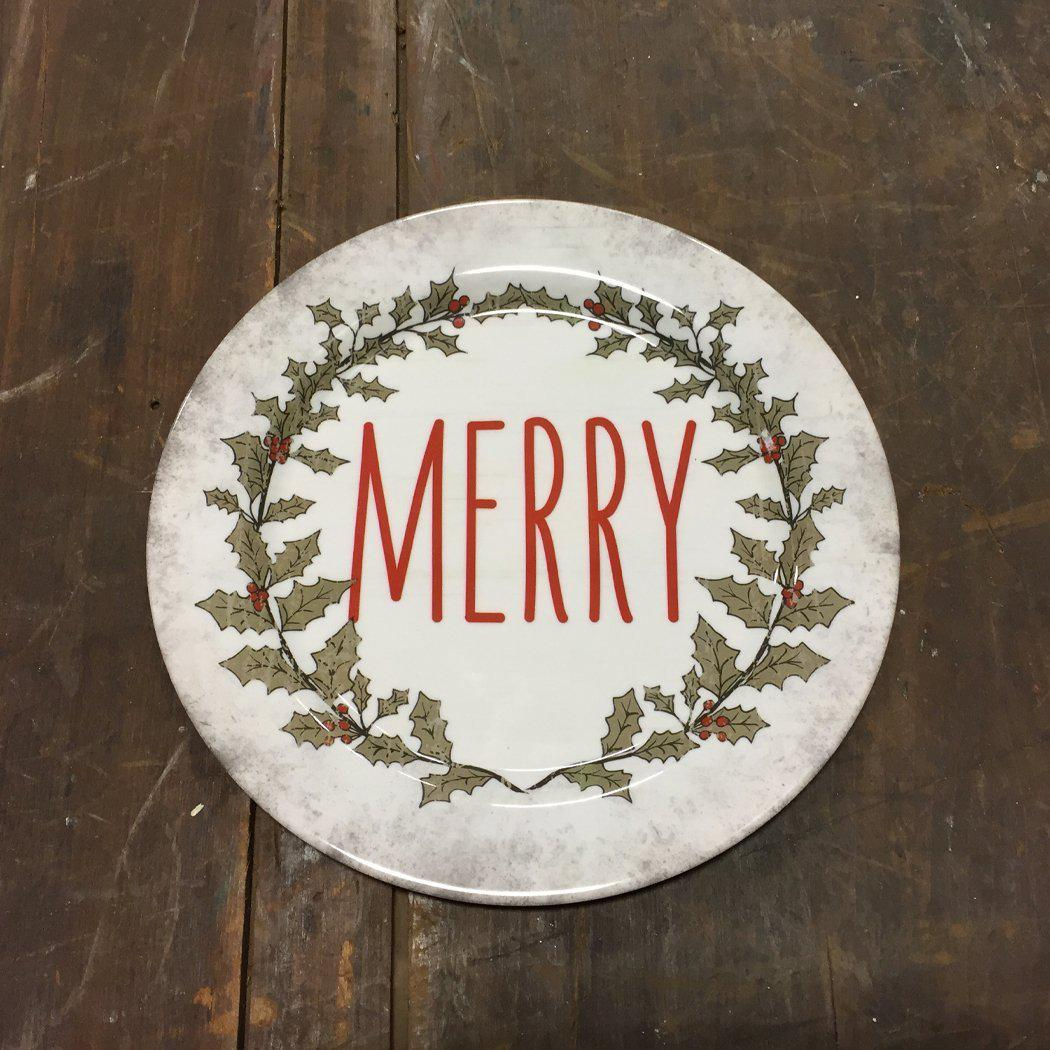 Merry Holly Plate-Seasonal-A Cottage in the City