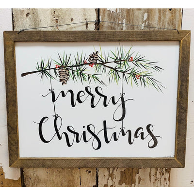 Merry Christmas Rustic Framed Print