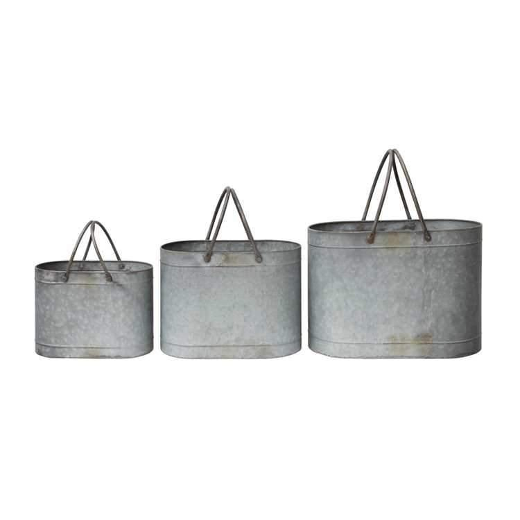 Metal Bucket With Handles-Storage-A Cottage in the City
