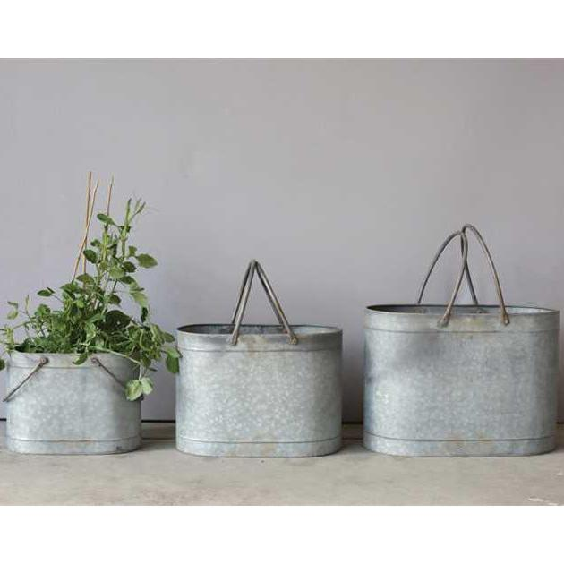 Metal Bucket With Handles-Storage-Small-A Cottage in the City