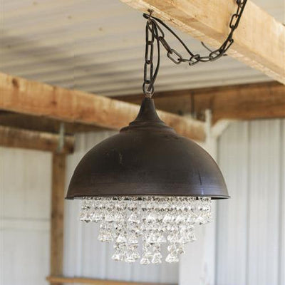 Metal Chandelier With Crystals