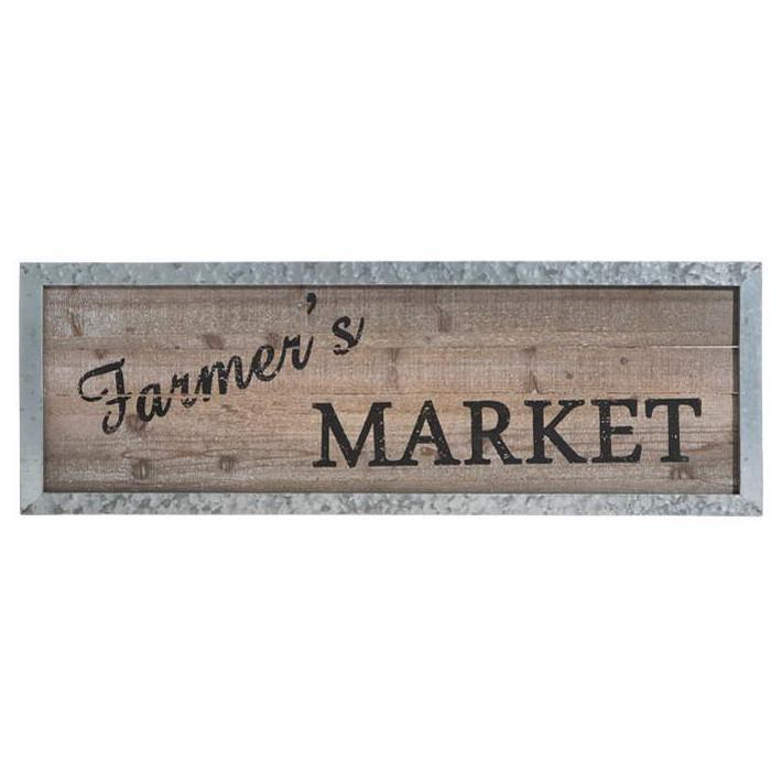Metal Framed Farmers Market Wood Sign-Decor-A Cottage in the City