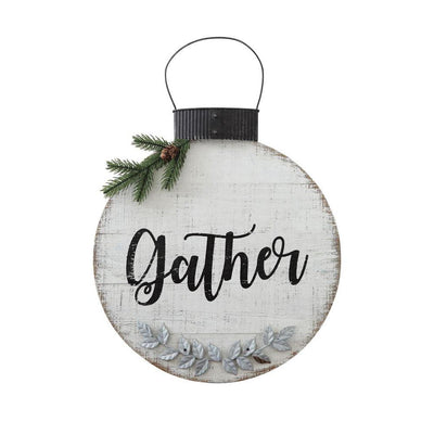 Metal & Wood Gather Wall Ornament