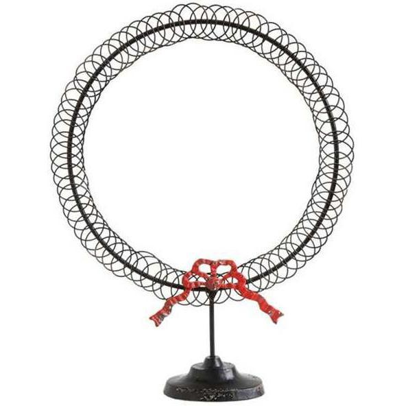 Metal Wreath With A Bow Card Holder-Seasonal-A Cottage in the City