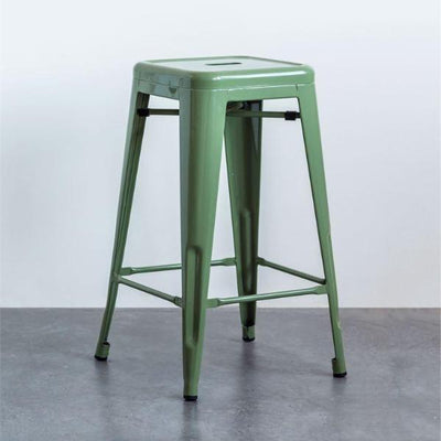 Mint Green Metal Stool
