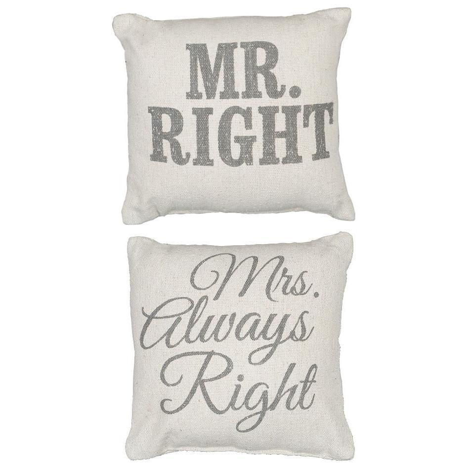 Mr. & Mrs. Right Pillow Set-Decor-A Cottage in the City