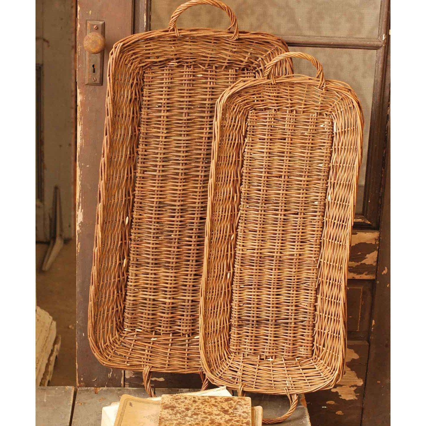 Long Natural Basket Tray-Seasonal-Small-A Cottage in the City